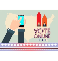Digital usa election with vote online vector