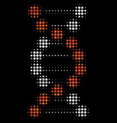 dna halftone icon vector image