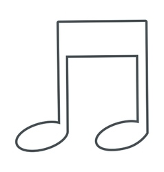 eighth music note icon vector image