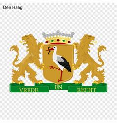 Emblem of the hague vector
