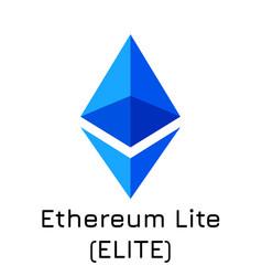 Ethereum lite elite crypto vector