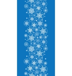 Falling Snowflakes Vertical Border Seamless vector