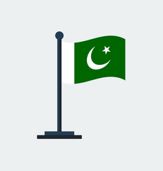 flag of pakistanflag stand vector image