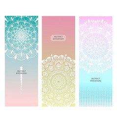 flower mandala set vector image