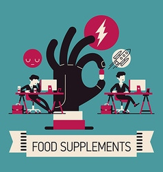 Food Supplement Poster vector