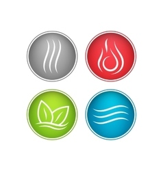 Four elements icons vector image