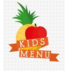 Fruits and kids menu design vector