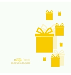 Gift box with shadow vector
