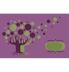 Global Diversity tree greeting card vector
