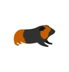 Guinea pig cavy icon in flat style vector