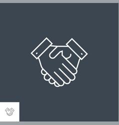 Handshake related line icon vector