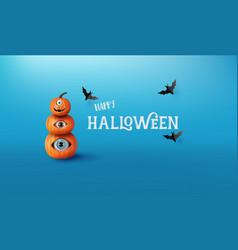 happy halloween greeting banner vector image
