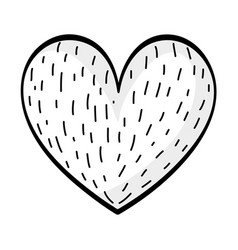 heart drawing cartoon vector image