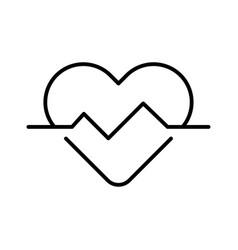 heartbeat heart pulse monochrome icon vector image