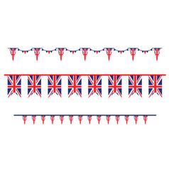 Holiday flags set vector