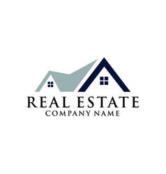 home real estate logo home real estate logo vector image