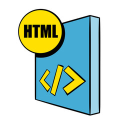Html file icon cartoon vector