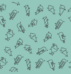Ice-cream icons pattern vector