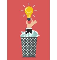 Idea form garbage vector image