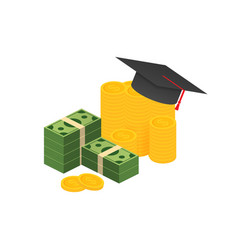 investment in education scholarship books vector image