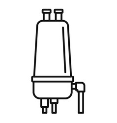 Irrigation filter icon outline style vector