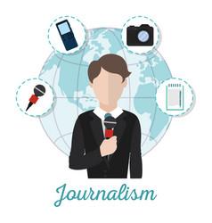Journalism and journalist vector