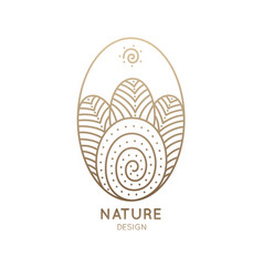 Logo oval nature vector