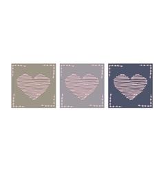 love letter Valentine thread heart vector image