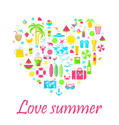 love summer card on white vector image