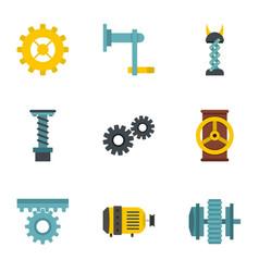 mechanism icon set flat style vector image