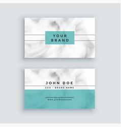 Minimal marble business card design vector