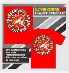 mock up clothing company t-shirt templateskulls vector image