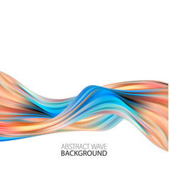 modern colorful flow poster wave color background vector image