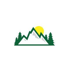 Mountain nature logo design template vector