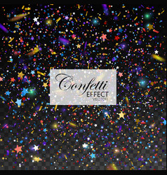multicolored glittering star dust vector image