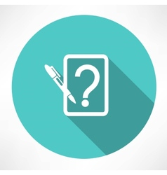 note with question icon vector image