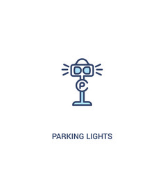 Parking lights concept 2 colored icon simple line vector