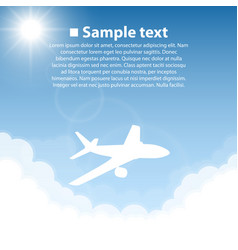 Plane world sightseeing collection vector