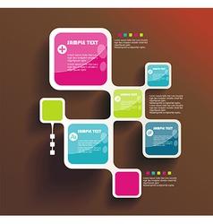 Retro Style Website Template design frame vector