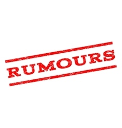 Rumours Watermark Stamp vector