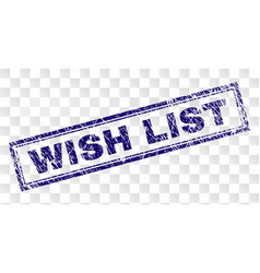 Scratched wish list rectangle stamp vector