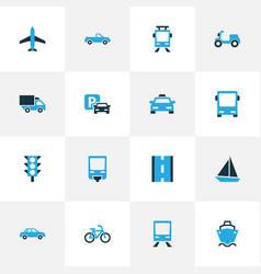 Shipment colorful icons set collection of parking vector