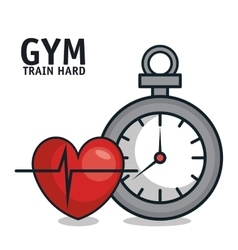 Sportwatch heartrate sport gym design vector