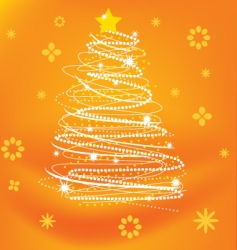 stylized xmas tree vector image
