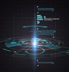 Three-dimensional interface technology science vector