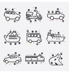 Transport infographic vector