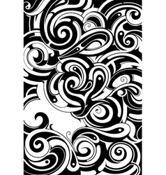 Tribal tattoo background vector image