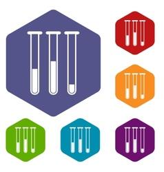 Tubes rhombus icons vector image