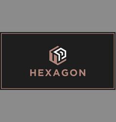 Up hexagon logo design inspiration vector