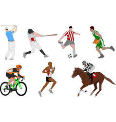 various sports detailed vector image vector image